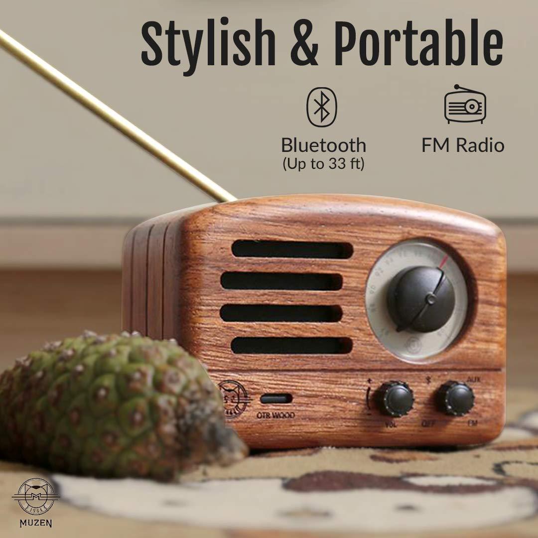 wood bluetooth radio