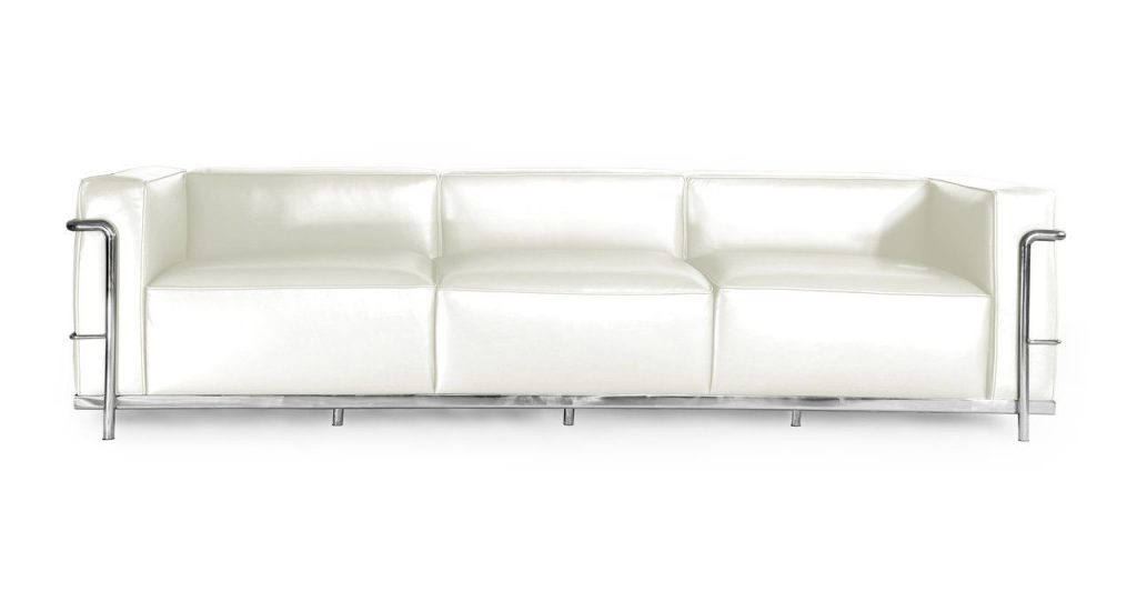 Kardiel mid century modern leather couch